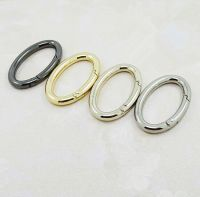 Snap Clip Trigger Spring Gate Oval Ring Keyring Buckle Bag