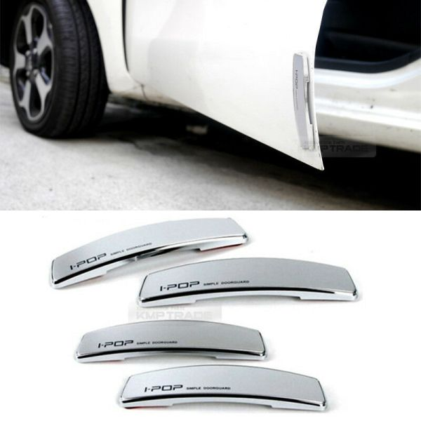 Simple Edge Door Guard Bumper Protector Silver Color Universal Car