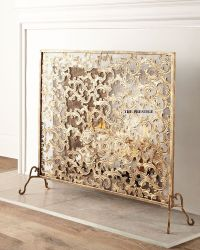 ITALIAN GOLD ACANTHUS LEAF FIREPLACE SCREEN HORCHOW | eBay