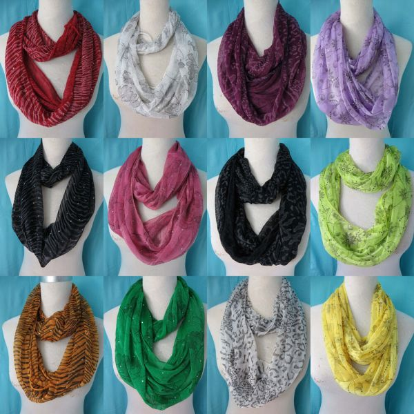 Seller Lot Of 10 Infinity Loop Scarf Bulk