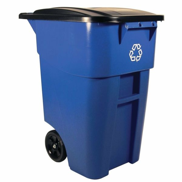 Commercial Bin Large Trash Recycle Rubbermaid Container 50 Gallon Rollout