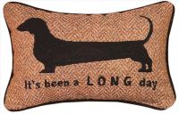 "DECORATIVE PILLOWS - ""ITS BEEN A LONG DAY"" DACHSHUND ..."