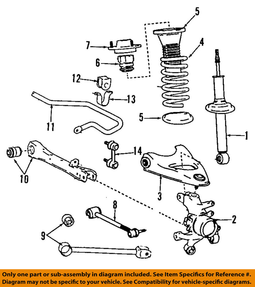 medium resolution of lexus toyota oem 02 05 sc430 rear suspension strut front suspension diagram basic car parts and
