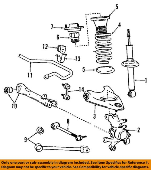 small resolution of lexus toyota oem 02 05 sc430 rear suspension strut front suspension diagram basic car parts and