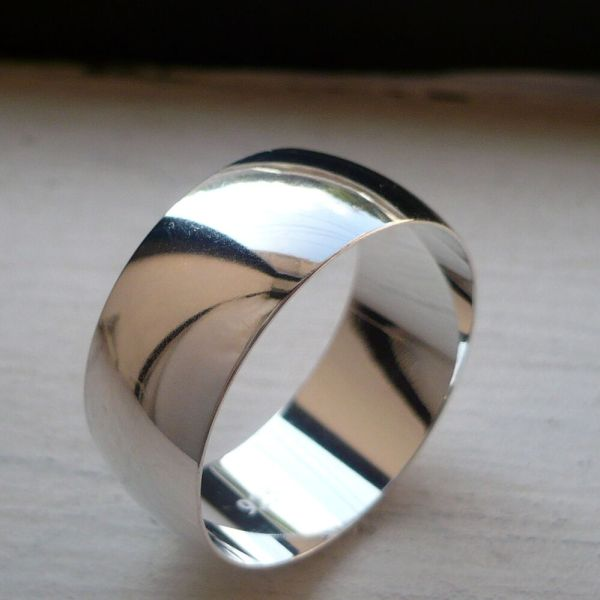 10mm Silver Men' Women' Wedding Anniverrsary Band Ring 6-15 Free Engraving