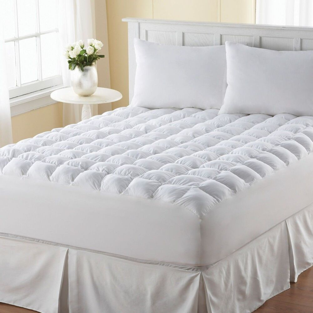 King Size Bed Mattress Topper Pad Cover Protector Luxury ...