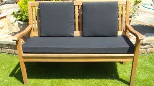 Garden Bench Cushion With Or Without Back Pads Black