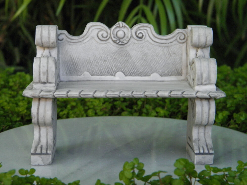 Miniature Dollhouse Fairy Garden Furniture Gray