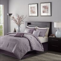 BEAUTIFUL CONTEMPORARY MODERN ELEGANT PURPLE PLUM GREY ...