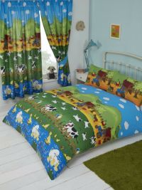 FARMYARD THEMED ANIMAL DESIGN BOYS GIRLS CHILDRENS KIDS