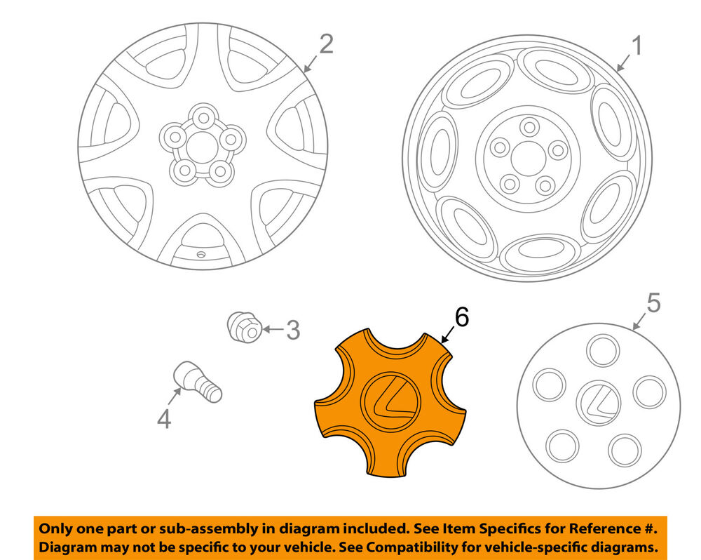 hight resolution of details about lexus toyota oem 01 03 ls430 wheel center cap hub cover 4260350170