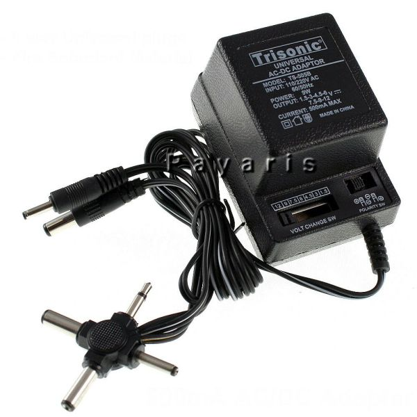 Ac Dc Universal Power Adapter Output 1.5v 12v 6 Plugs Selection 110-220v Volt