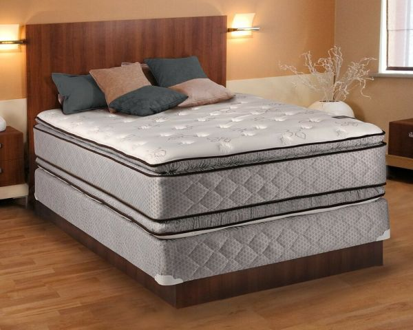 Hollywood Plush Queen Size Pillowtop Mattress And Box Spring Set