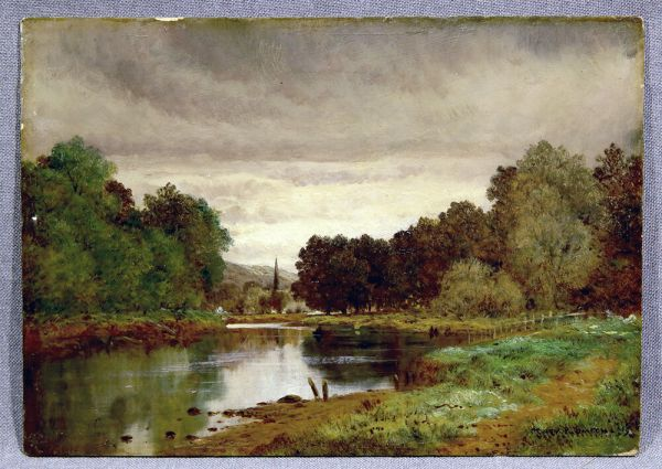 landscape oil painting river lee