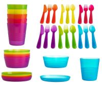 Ikea Kalas Baby Kids Plastic Cutlery, Cups, Plates, Bowls ...