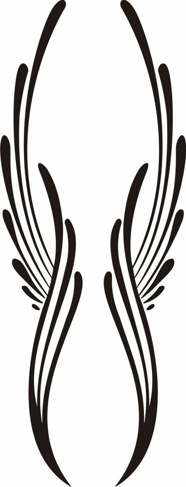 Custom Graphic Center Scroll Pinstriping Decal #28 Pair (2