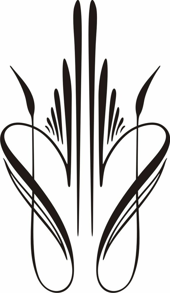 Custom Graphic Center Scroll Pinstriping Decal #33 Pair (2
