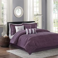 BEAUTIFUL MODERN CHIC GREY PURPLE PLUM SILVER PINCH PLEAT