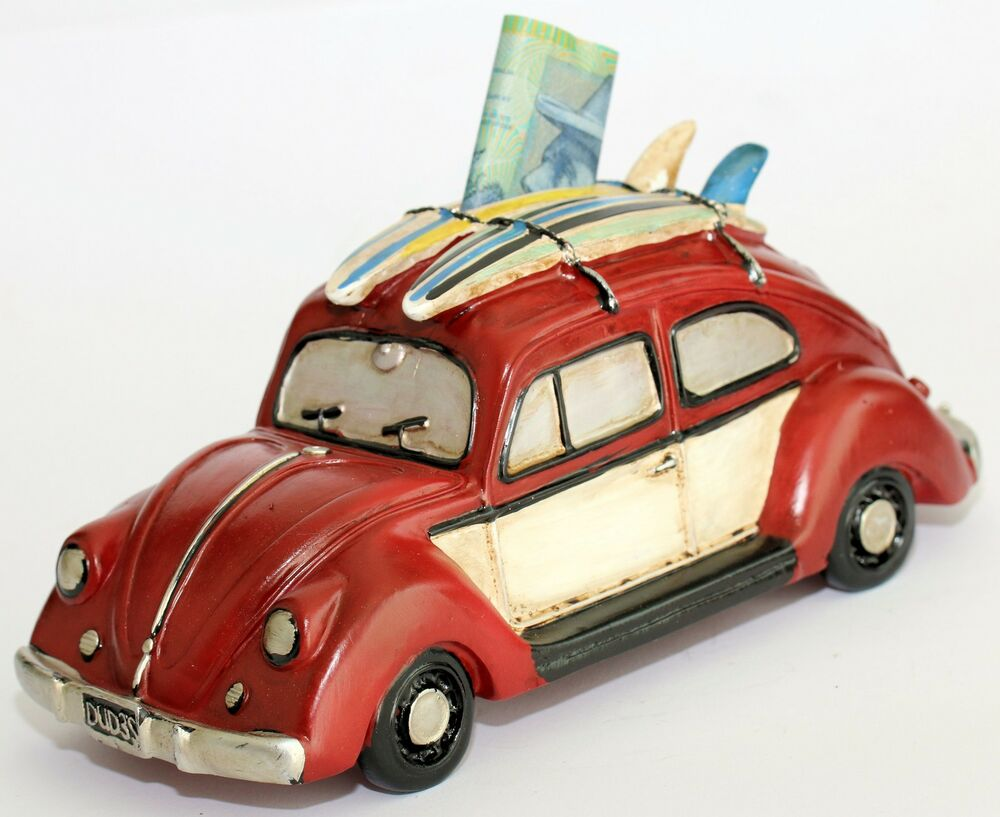 medium resolution of details about money box vw beetle bug classic old style surfboardrustic design money bank