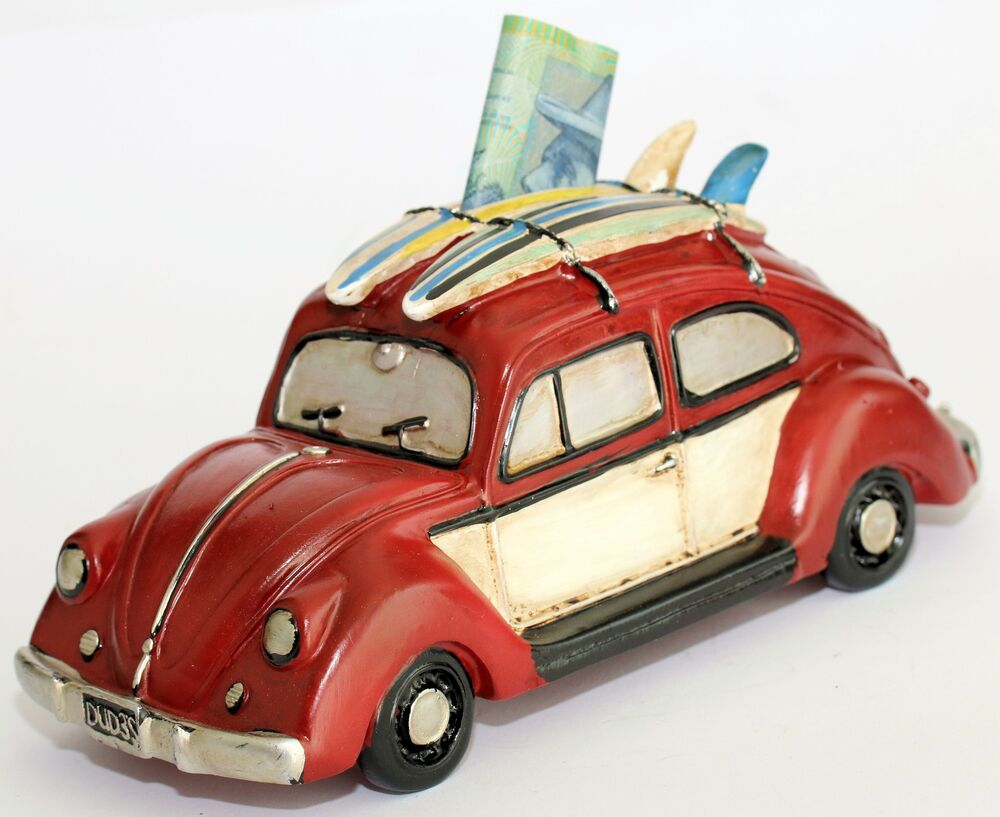 hight resolution of details about money box vw beetle bug classic old style surfboardrustic design money bank