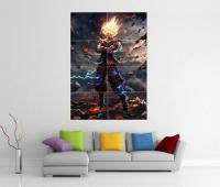 DRAGON BALL Z SAIYAN SUPER GIANT WALL ART PICTURE PRINT ...