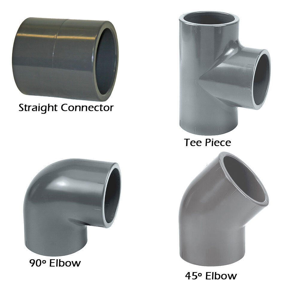 ABS Solvent Weld Pipe Fittings Glue Cement Black 32mm 40mm