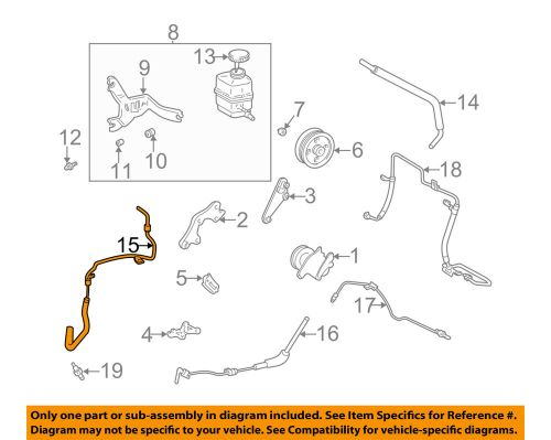 small resolution of lexus toyota oem 99 03 rx300 power steering return hose 4440648010 ebay
