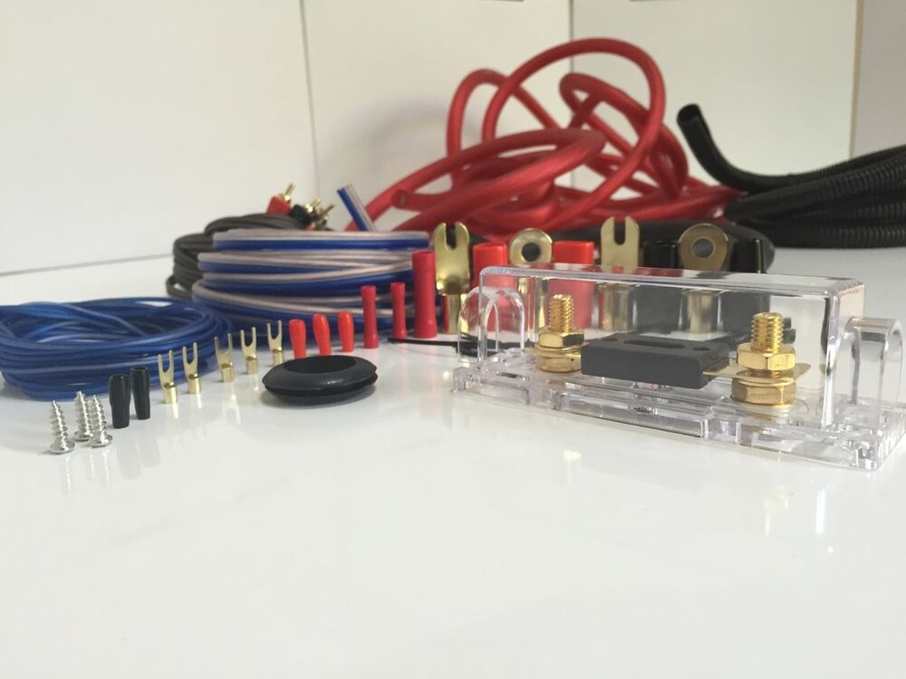 About 8 Awg 800 Watt Complete 8 Gauge Car Amplifier Amp Sub Wiring Kit