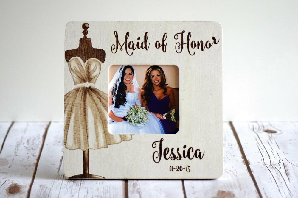 Personalized Picture Frame- Maid Of Honor Gift- Bridesmaid