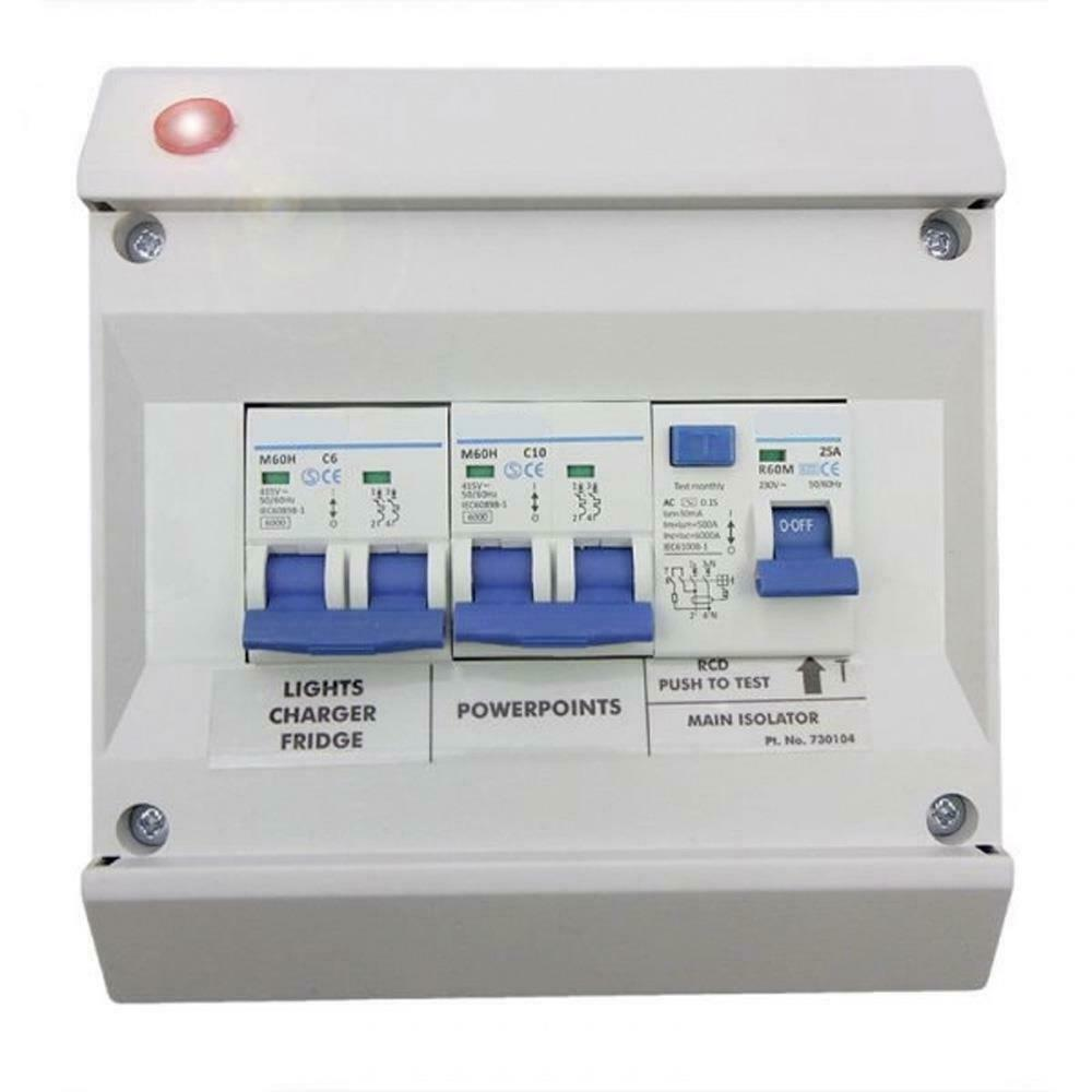 hight resolution of caravan deluxe mains consumer unit fuse box caravan motorhome camper po104 ebay solar panel battery fuse