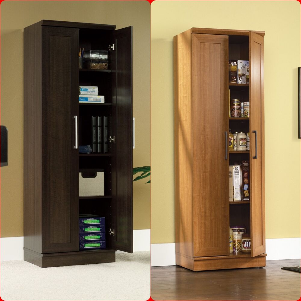 Tall Cabinet Cupboard Storage Organizer Office Laundry Kitchen Food Pantry Shelf  eBay