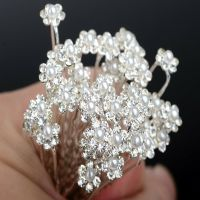 Wholesale 40Pcs Wedding Bridal Pearl Flower Crystal Hair