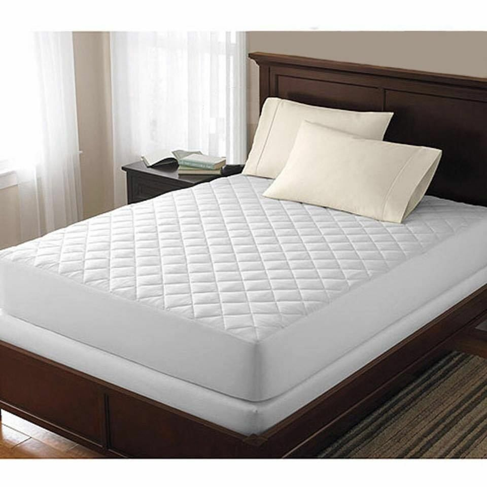 LUXURY EXTRA DEEP QUILTED MATTRESS BED PROTECTOR FITTED
