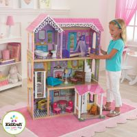 KIDKRAFT SWEET & PRETTY WOODEN KIDS DOLLS HOUSE FURNITURE ...