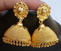 Indian 22K Gold Plated Chain Jhumka Traditional Bridal ...