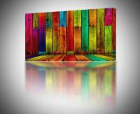 4 Sizes - Colorful Abstract Boards CANVAS PRINT Home Wall ...