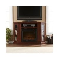 Corner Electric Fireplace Heater Flat Screen TV Stand ...
