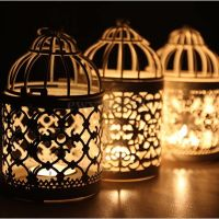 New Metal Round Moroccan Votive Candle Holder Hanging ...