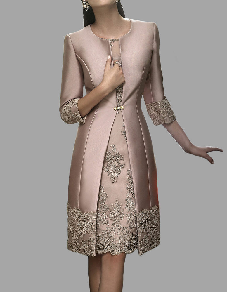 Knee Length Mother of the Bride suitoutfit Embroidery