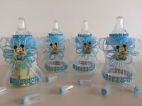 12 Baby Mickey Mouse Fillable Bottles Baby Shower Favors ...