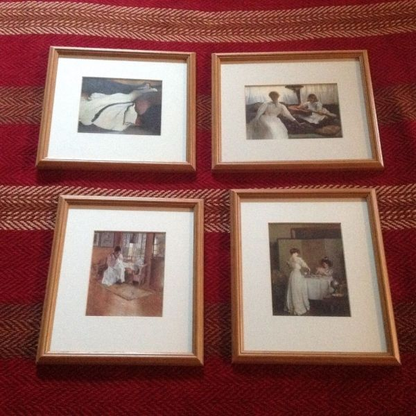 Vintage Metropolitan Museum Of Art Set Four Framed