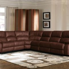 Corner Sofa Leather Ebay Dundee Shops Large Bonded Sectional With Reclining End ...