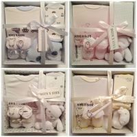 NEW BABY BOYS GIRLS GIFT SET,4 PIECE SET,GIFT BOX,NEWBORN ...