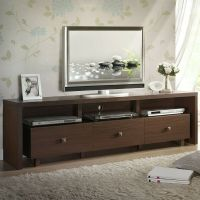 70'' Modern Entertainment Center TV Stand with 3 Storage ...
