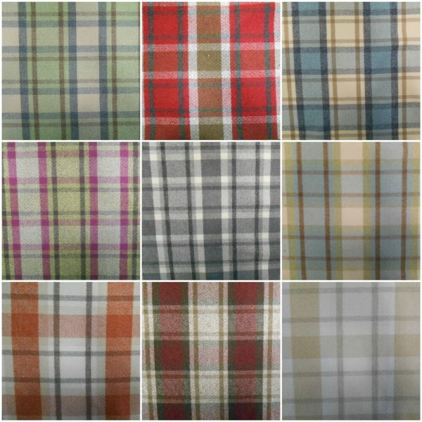 Wool Effect Washable Thick Tartan Plaid Upholstery
