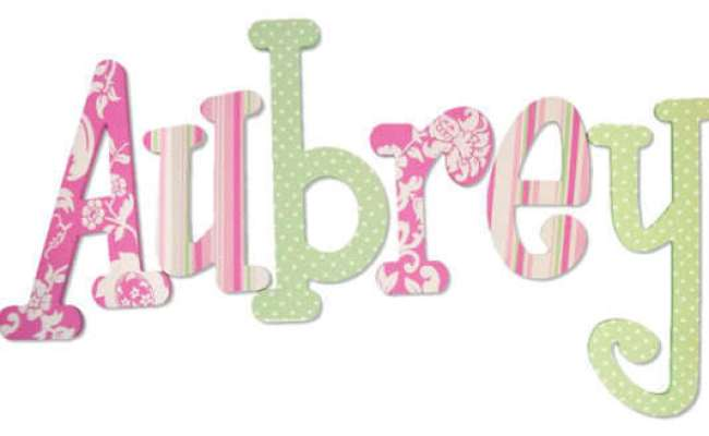 Custom Hand Painted Wood Wooden Name Nursery Wall Letters