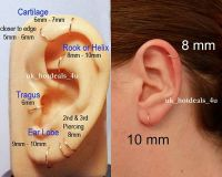 Rose Gold Cartilage Earring Rook Helix Tragus Ring Nose ...