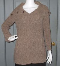 OLD NAVY womens shawl collar SWEATER COAT cardigan M brown ...