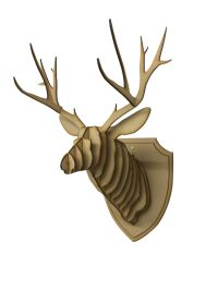 Large/ Small Wooden Deer Head Wall Art Hanging 3D Stag ...