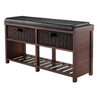 Entryway Shoe Storage Bench Colin Cushion Bench Storage ...